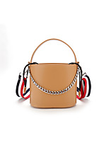 Women Bags All Seasons PU Shoulder Bag with for Casual White Black Gray Brown