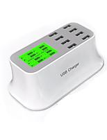 Chargeur USB 8 Ports Station de chargeur de bureau Affichage LCD Prise GB Adaptateur de charge