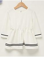 Robe Fille de Couleur Pleine Coton
