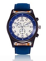 XU Men's Luxurious Elegant Quartz Leather Belt Business Large Dial Wrist Watch Dress Watch