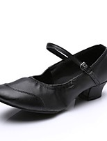 Для женщин Танцевальные кроссовки Искусственная кожа С цельной подошвой Тренировочные На низком каблуке Черный Пурпурный Красный Менее