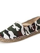 Для мужчин Мокасины и Свитер Удобная обувь Весна Осень Ткань Повседневные На плоской подошве Зеленый На плоской подошве