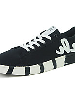 Men's Sneakers Comfort Spring Fall Rubber Outdoor Lace-up Flat Heel White Black Dark Blue Under 1in