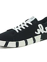 Для мужчин Кеды Удобная обувь Резина Весна Осень Шнуровка На плоской подошве Белый Черный Темно-синий Менее 2,5 см