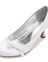 Feminino Sapatos De Casamento Conforto Plataforma Básica Cetim Primavera Verão Casamento Social Festas & Noite Laço Flor de Cetim Flor