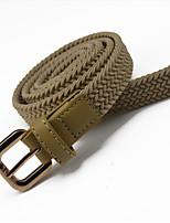 Ms. Woven Elastic Fashion Belt Nonporous