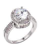 Жен. Классические кольца Богемия Стиль Позолота Круглой формы Бижутерия Назначение Свадьба Обручение