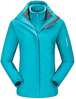 Men's Women's 3-in-1 Jackets Keep Warm Thermal / Warm Windproof Breathable Wearproof 3-in-1 Jackets for Running/Jogging Camping / Hiking