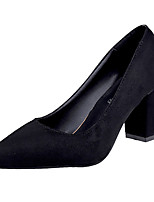 Women's Heels Comfort Basic Pump Formal Shoes Spring Summer PU Dress Office & Career Chunky Heel Black Gray 3in-3 3/4in