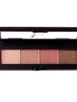 4*4 Paleta de Sombras Brilho Paleta da sombra Maquiagem para o Dia A Dia Maquiagem Esfumada