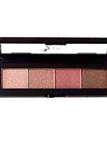 4*4 Paleta de Sombras de Ojos Brillo Paleta de sombra de ojos Maquillaje de Diario Maquillaje Smokey