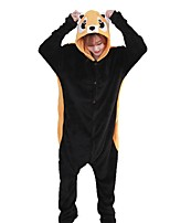 Kigurumi Pajamas Raccoon Festival/Holiday Animal Sleepwear Halloween Fashion Embroidered Flannel Fabric Cosplay Costumes Kigurumi For