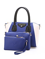 Women Bags All Seasons PU Bag Set with for Wedding Event/Party Casual Formal Office & Career Blue Black Yellow Brown