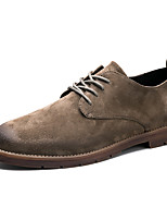 Для мужчин обувь Кожа Осень Зима Удобная обувь Туфли на шнуровке Для прогулок Шнуровка Назначение Свадьба Повседневные Для вечеринки /