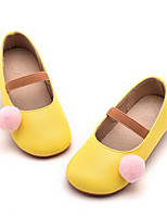 Girls' Flats Comfort Spring Fall Leatherette Casual Blue Yellow Gray Flat