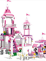 Building Blocks For Gift  Building Blocks Castle Carriage Plastics ABS 6 Years Old and Above Toys