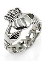 Муж. Жен. Кольца на вторую фалангу Классические кольца Мода Классика Нержавеющая сталь В форме сердца В форме короны Бижутерия Назначение