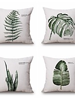 4PCS Green Plant Style Pillowcase Home Decor Pillow Cover