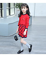Girl's Cartoon Dress,Cotton Spring Long Sleeve