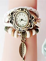 Жен. Модные часы Часы-браслет Кварцевый PU Группа Черный Белый Синий Красный Оранжевый Коричневый Зеленый