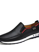 Для мужчин Мокасины и Свитер Удобная обувь Наппа Leather Осень Зима Повседневные Для вечеринки / ужина Комбинация материаловНа плоской
