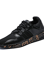 Men's Athletic Shoes Comfort Fall Winter Breathable Mesh Tulle Fabric Cycling Shoes Athletic Outdoor Lace-up Flat Heel Gold White Black