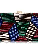 L.WEST Women's fashion set auger drill multicolor evening bags
