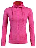Damen Langarm Anatomisches Design Atmungsaktivität Dehnbar Trainingsanzug Reißverschluss - Top für Rennen Camping & Wandern Radsport
