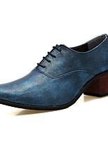 Da uomo Oxford Comoda Scarpe formali Di pelle Primavera Autunno Casual Serata e festa Elastico Quadrato Nero Argento Blu Borgogna2,5 -