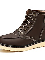 Men's Boot Comfort Snow Boot Riding Boot Fashion Boot Motorcycle Boot Combat Boot Light Sole Fall Winter Nubuck leather PU Leather Casual