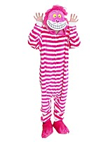 Kigurumi Pajamas Black Cat Shoes Festival/Holiday Animal Sleepwear Halloween Fashion Stripe Embroidered Flannel FabricCosplay Costumes With Shoes
