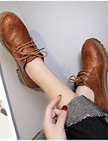 Women's Boots Comfort Combat Boots Winter Real Leather PU Casual Black Brown Khaki Flat