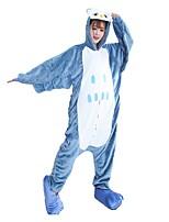 kigurumi Pyjamas Chouette Collant/Combinaison Chaussures Fête / Célébration Pyjamas Animale Halloween Mode Imprimé Brodée Flanelle