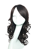 Capless Natural Black Color Wig Synthetic Fiber Heat Resistant Wig Long Deep Wave Full Wig
