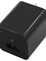 1080p memoria interna de 8 gb mini cámara usb cargador de pared adaptador de grabación en bucle