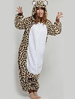 kigurumi Pyjamas Léopard Collant/Combinaison Fête / Célébration Pyjamas Animale Halloween Animal Léopard Molleton Kigurumi PourCouple