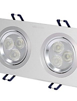 1Pcs 6W Recessed LED Spot Light Celing Light Yellow/Warm White/White AC220V Size Hole 170mm Beam Angle 25