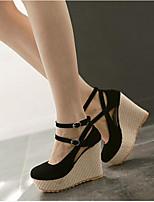 Femme Chaussures à Talons Confort Polyuréthane Printemps Automne Décontracté Noir Beige Rose dragée clair 5 à 7 cm