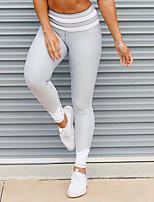 Mujer Bloques Encaje de costura Legging