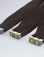 Straight Brazilian Skin Weft Human Hair Remy Tape In Hair Extensions 12''-24 2g/s 20pcs 40g 2#