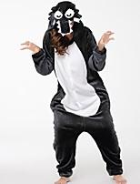 kigurumi Pyjamas Loup Fête / Célébration Pyjamas Animale Halloween Mode Brodée Flanelle Costumes de Cosplay Kigurumi Pour Couple Unisexe