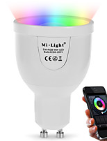 GU10 5W 2.4Ghz RGB-- White Stepless Dimming Wireless Remote Control Dimming Mobile Phone  Wifi Control Dimming Intelligent Bulb (AC85-265V)