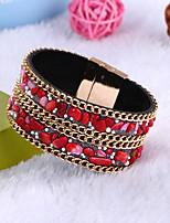 Femme Bracelet Fait à la main Classique Cuir Forme de Cercle Bijoux Pour Quotidien Décontracté Sortie