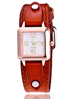 Жен. Модные часы Наручные часы Уникальный творческий часы Повседневные часы Имитационная Четырехугольник Часы Китайский Кварцевый Кожа
