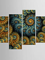 Отпечатки на холсте Абстракция,4 панели Холст Любые формы С картинкой Декор стены For Украшение дома
