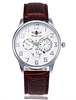XU Men's Luxurious Elegant Quartz Leather Belt Business Calendar Wrist Watch Dress Watch