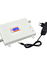 4G FDD LTE 2600MHz 3G W-CDMA UMTS 2100MHz Dual Band Mobile Phone Signal Booster 3G 4G Signal Repeater with 12v Power / LCD Display / White