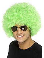 Perruque Synthétique Sans bonnet Mi Longue Frisés Vert Pour Cheveux Africains Perruque afro-américaine Perruque de Cosplay Perruque