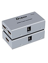 DTech HDMI 1.4 Switch/Extender HDMI 1.4 to HDMI 1.4 RJ45 Switch Female - Female 1080P Extend Distance up to 60M