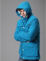Пальто Простое Длинная На подкладке Для мужчин,Однотонный На каждый день Полиэстер Полипропилен,Длинный рукав
